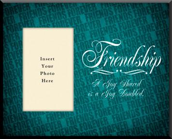 Friendship 'Joy Shared' Photo Frame(Insert Your Photo)