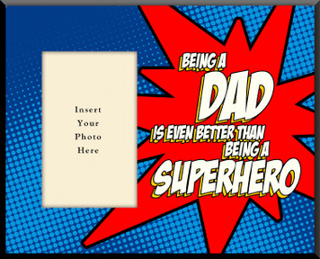 Super-Dad Photo Frame