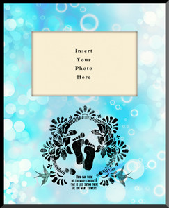 Life is Precious Vertical Picture Frame (Insert Your Photo)