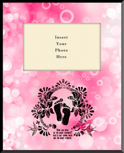 Life is Precious Pink Vertical Picture Frame (Insert Your Photo)