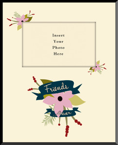 Friends Forever Vertical Picture Frame(Insert Your Photo)