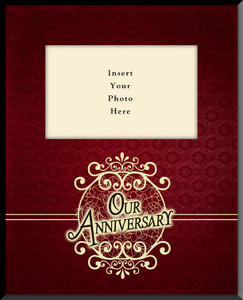 Our Anniversary Vertical Picture Frame (Insert Your Photo)