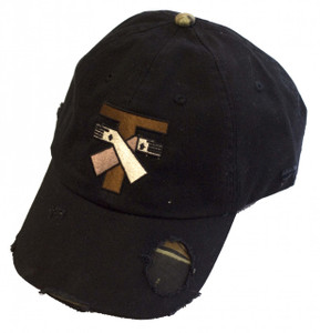 Jesus and St. Francis Tau Cross Hat (Black)