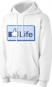 """Life"" Thumb Hoodie"