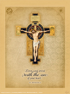 Benedictine Cross Poster