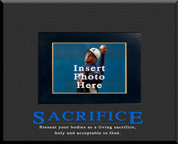 """Sacrifice"" Motivational Picture Frame"