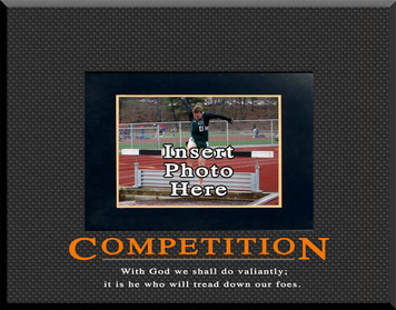 """Competition"" Motivational Picture Frame"