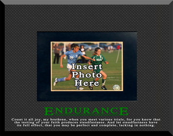 """Endurance"" Motivational Picture Frame"