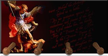 St. Michael Keychain Holder