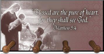 Matthew 5:4 Keychain Holder