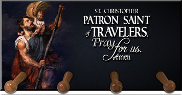 St. Christopher Keychain Holder