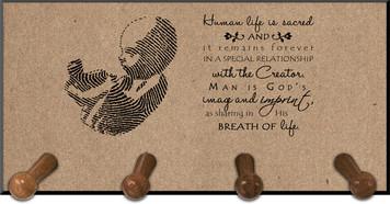 Pro-life Thumbprint Keychain Holder