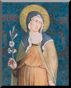 St. Clare Wall Plaque