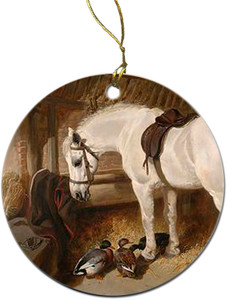 Horse with Ducks Ornament