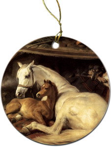 Mare and Foal Ornament