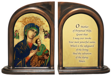 Our Lady of Perpetual Help Bookends