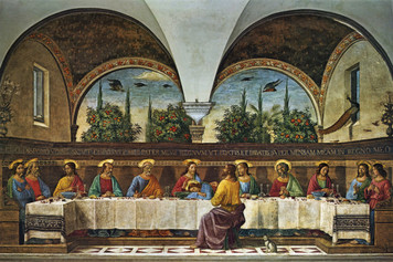 Last Supper by Ghirlandaio Postcard