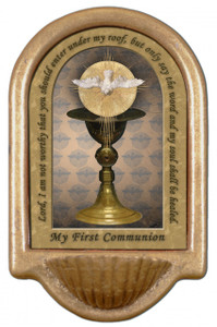 Chalice with Holy Spirit Holy Water Font