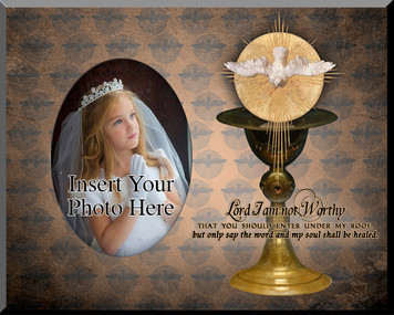 Eucharist with Holy Spirit Photo Frame