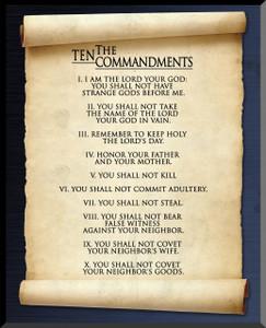 10 Commandments Graphic Wall Plaque