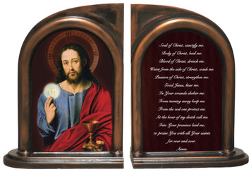 Christ Holding Eucharist Bookends