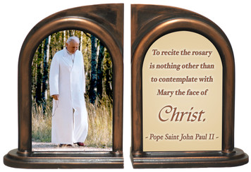 Pope John Paul II (Walking) Rosary Bookends