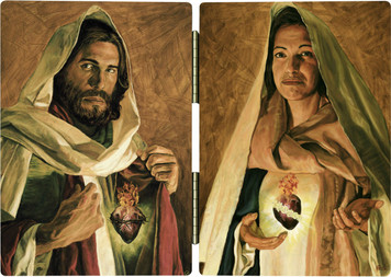 Sacred and Immaculate Hearts Jason Jenicke Diptych