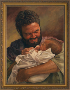St. Joseph Holding Jesus By Jason Jenicke Framed Art