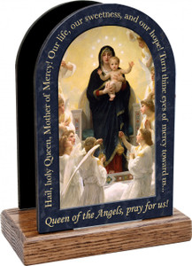 Queen of the Angels Prayer Table Organizer (Vertical)