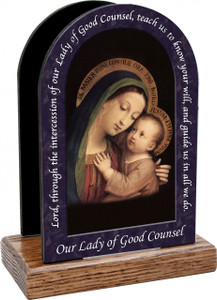 Our Lady of Good Counsel Prayer Table Organizer (Vertical)