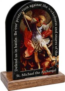 St. Michael the Archangel Prayer Table Organizer (Vertical)