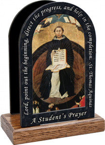 St. Thomas Aquinas Prayer Table Organizer (Vertical)