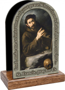 St. Francis of Assisi Prayer Table Organizer (Vertical)