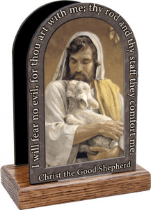 Christ the Good Shepherd Prayer Table Organizer (Vertical)