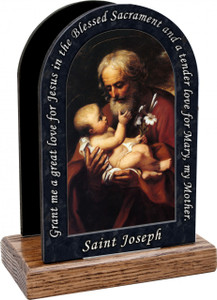 St. Joseph (Older) Prayer Table Organizer (Vertical)