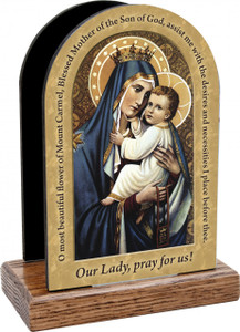 Our Lady of Mt. Carmel Prayer Table Organizer (Vertical)