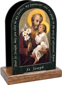 St. Joseph (Younger) Prayer Table Organizer (Vertical)