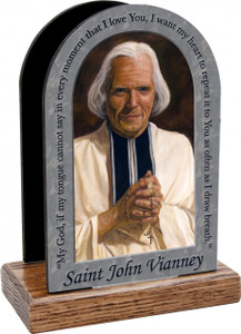 St. John Vianney Prayer Table Organizer (Vertical)