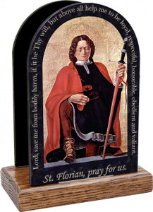 St. Florian-Firefighter's Prayer Table Organizer (Vertical)