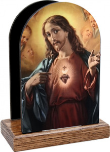 Sacred Heart Surrounded by Angels Table Organizer (Vertical)