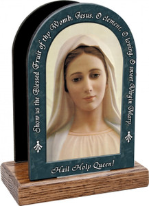 Our Lady of Medjugorje Hail Holy Queen Table Organizer (Vertical)