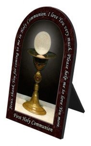 First Communion Prayer Arched Desk Plaque