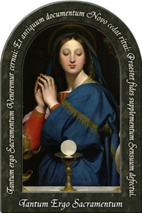 Madonna of the Host Prayer Arched Magnet