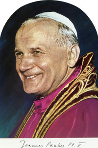 Pope John Paul II Arched Magnet