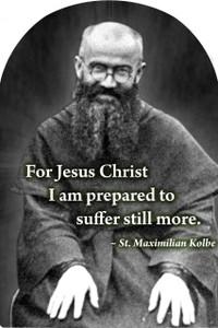 St. Maximilian Kolbe Arched Magnet
