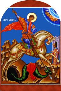 St. George and the Dragon Arched Magnet