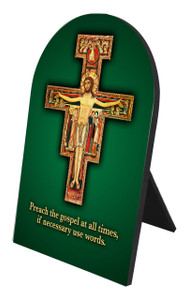 Preach the Gospel Cross Arched Desk Plaque