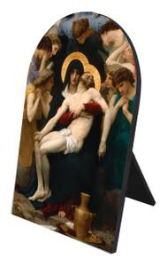 Pieta Arched Desk Plaque