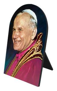 Pope John Paul II Arched Desk Plaque