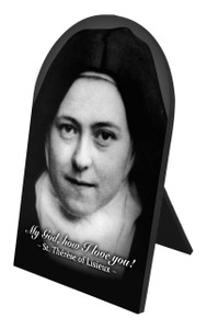 St. Therese (Nun) Arched Desk Plaque